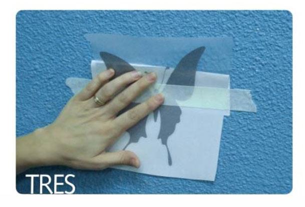 Paso 3 instalar papel adhesivo
