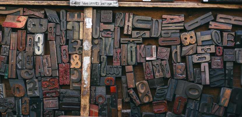bloques de madera para imprental manual