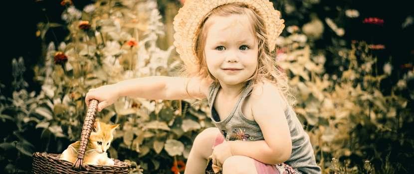 fotografía de niña